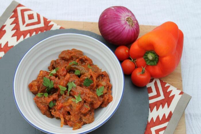Beef & chorizo stew