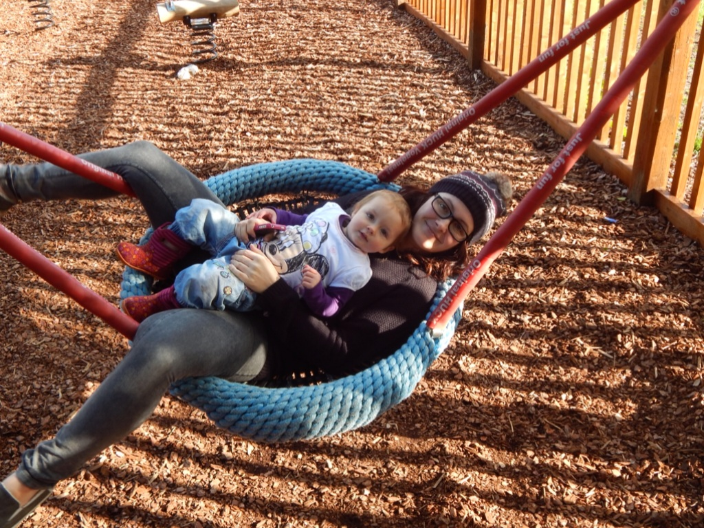 Mother and baby swing