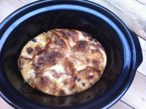 hot cross bun slow cooker pudding