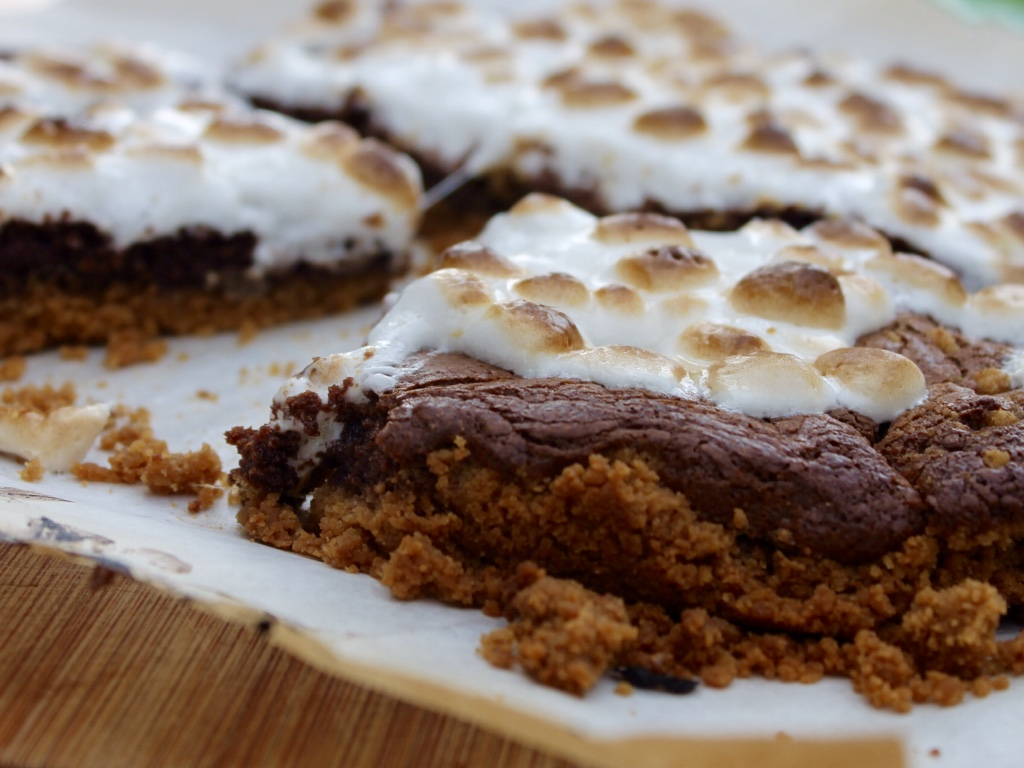nutella brownie s'mores