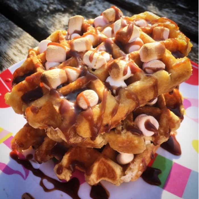 waffle s'mores