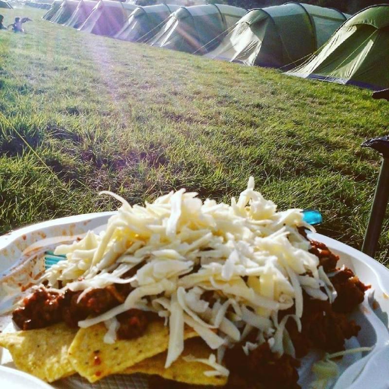 camping bbq nachos