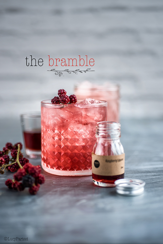 Classic Bramble gin cocktail