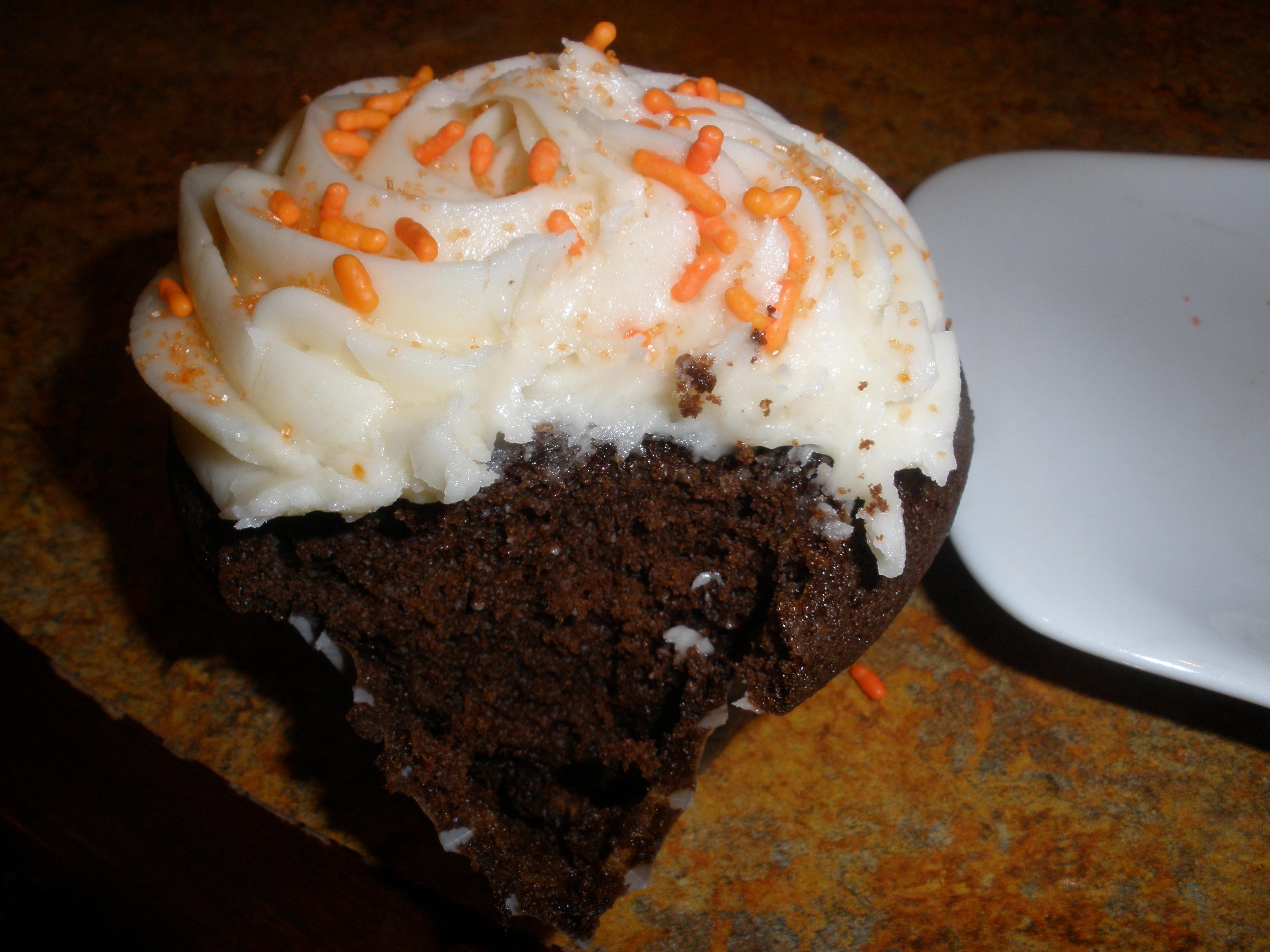 Innards of Chocolate Cupcake