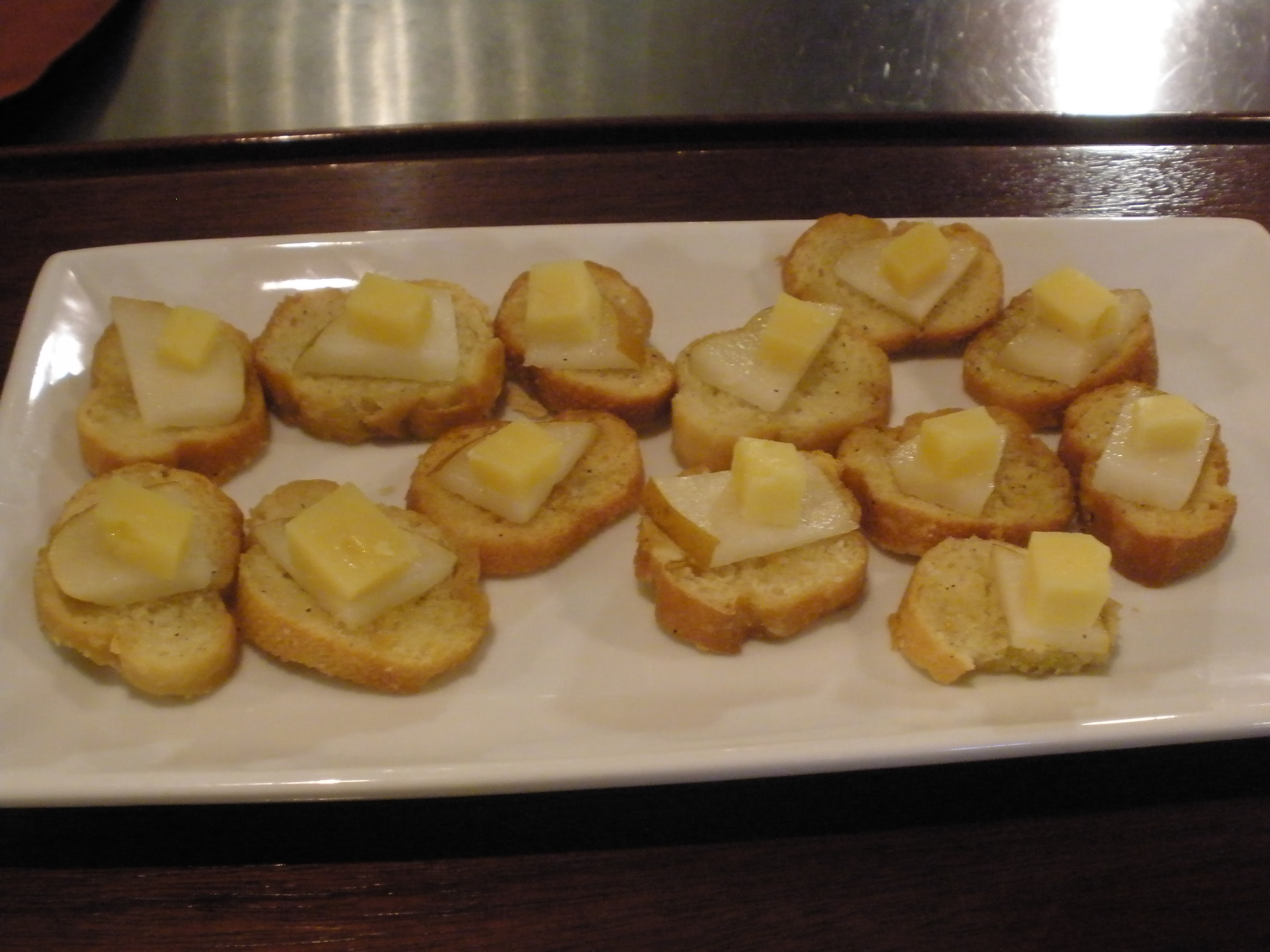 Royer Mountain Cheese on Baguette & Asian Pear