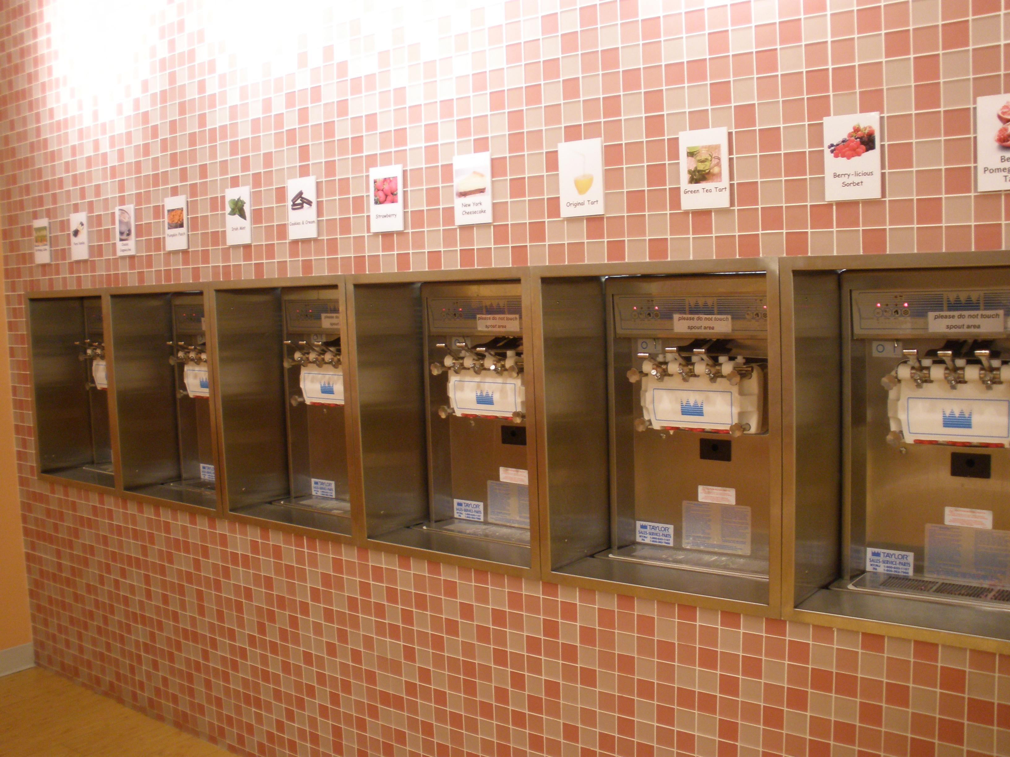 Row of Sprinkles flavors
