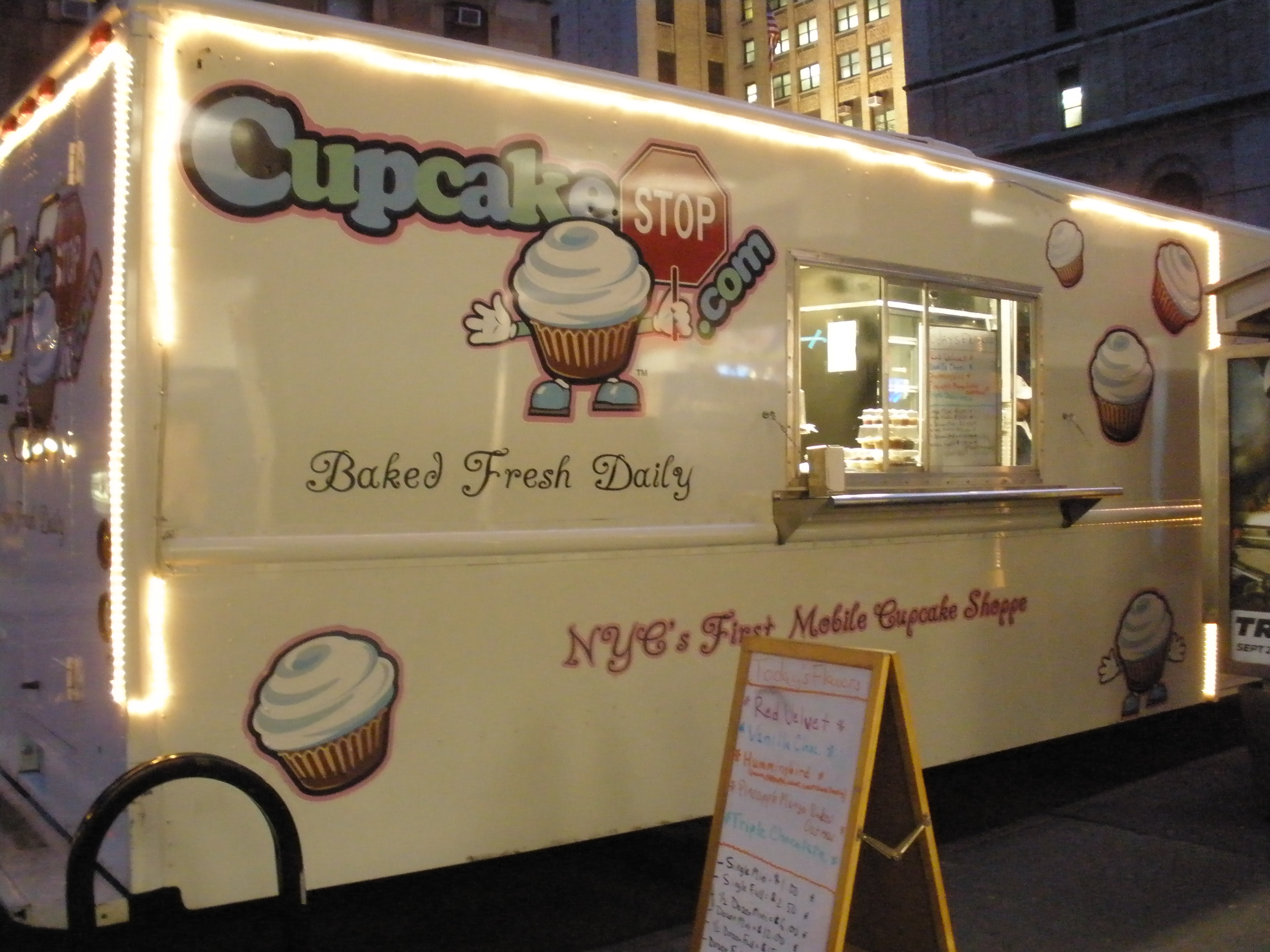 Cupcake Stop, the cupcake truck in NYC.