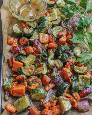 Maple Dijon Roasted Vegetables