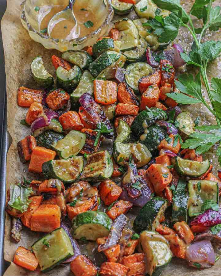 Maple Dijon Roasted Vegetables