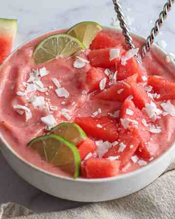 Watermelon Strawberry Smoothie Bowl