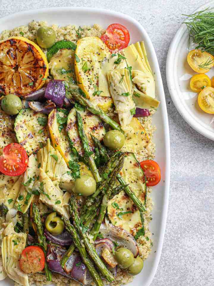 Grilled Vegetables over Quinoa