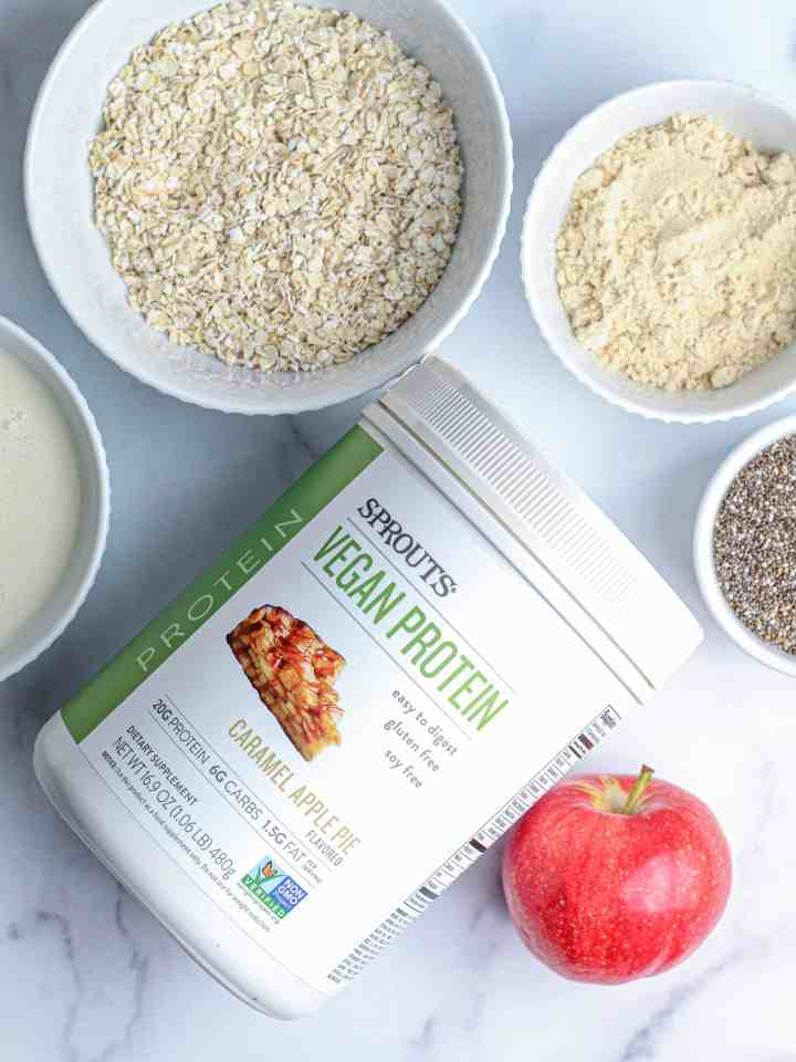 Ingredients for overnight chia oats.