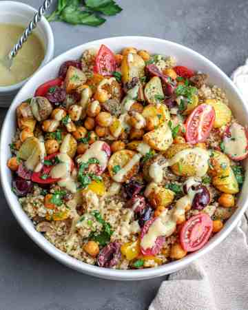 Roasted Potato & Chickpea Quinoa Bowl