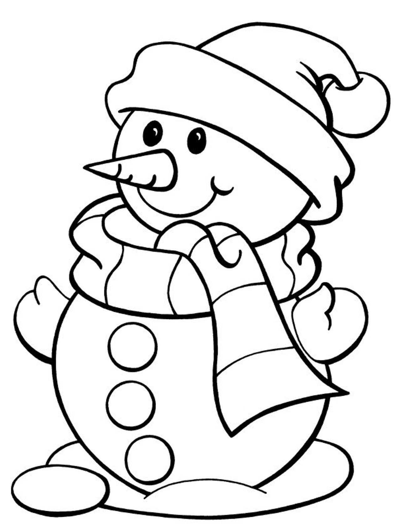 Coloring Page Free Coloring Pages Winter Snowman Free