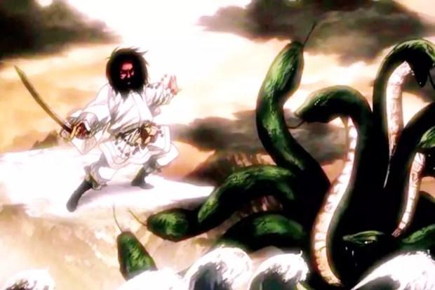 Susanoo lutando contra Yamata no Orochi (Foto: Creative Commons)