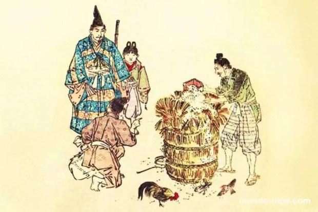 Hidesato e o saco de arroz mágico (Foto:Mundo-Nipo/Livro My Lord Bag-o-Rice, de 1887)