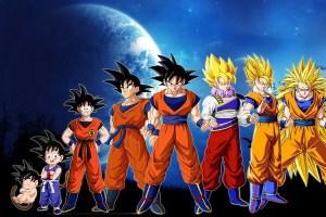 Goku em todas as fases de evolução (Imagem: Divulgação)