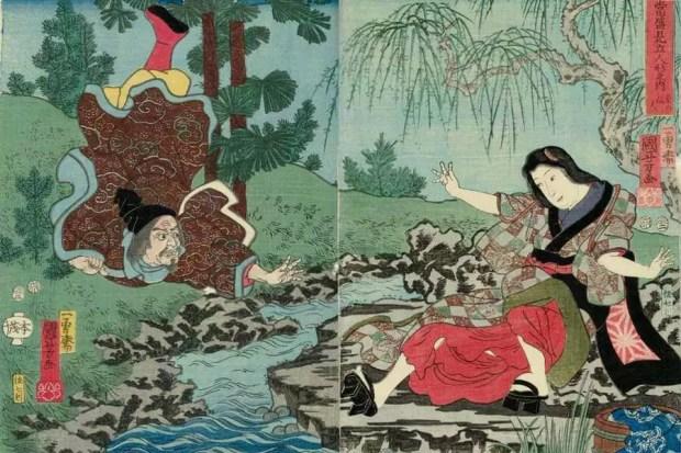 Kume-no-sennin, por Utagawa Kuniyoshi (Foto: Reprodução)