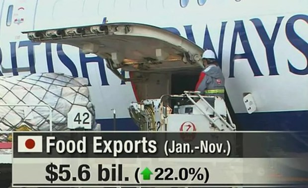 Japão registra recorde de exportação de alimentos em 2015 (Imagem: Reprodução/NHK)