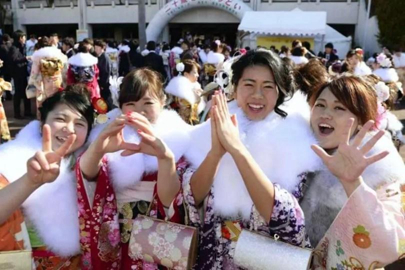 Seijin No Hi: Dia da Maioridade no Japão (Foto: Kyodo)