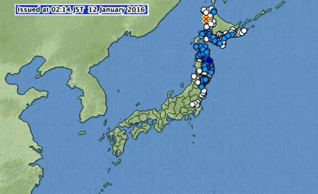 Terremoto de magnitude 6 atinge o norte do Japão (Imagem: Reprodução/JMA/MN)