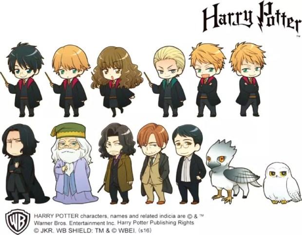 Versão japonesa dos personagens de Harry Potter (Foto: Warner Bros.)