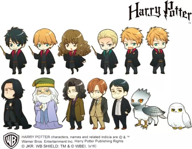 Versão japonesa dos personagens de Harry Potter (Foto: Warner Bros.)