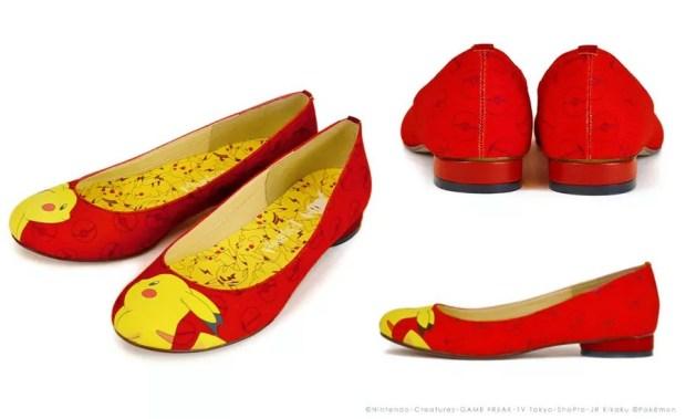 Coleção de sapatos Pikachu: modelo Face (Foto: Reprodução/ Montagem Mundo-Nipo)