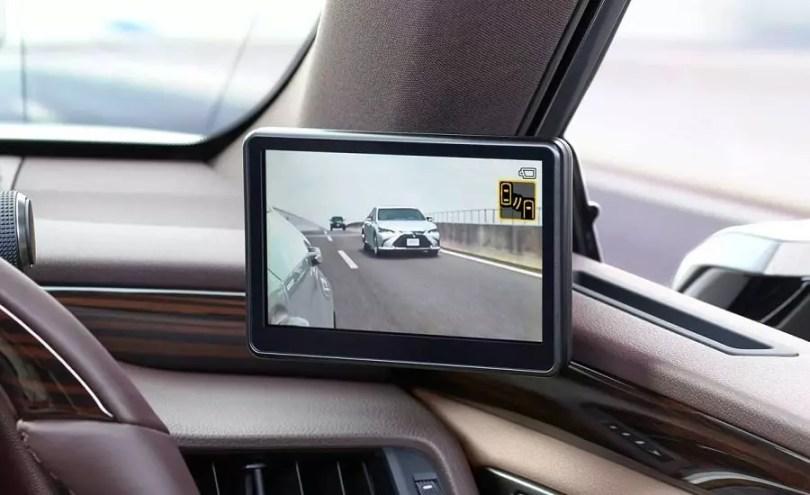 Lexus substitui espelhos retrovisores por câmeras, mas só no Japão