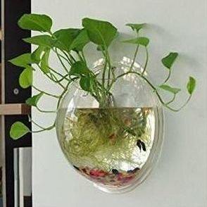 Pecera de pared nhsunray cristal jarr n de decoraci n for Jarron cristal decoracion