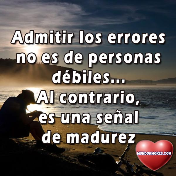 Admitir los errores