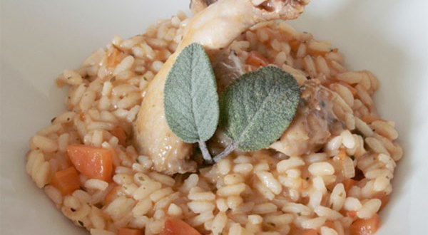 Risotto con Perdices