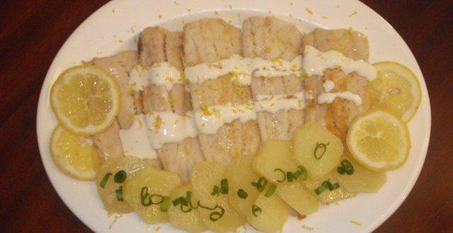 Merluza y patatas a la crema