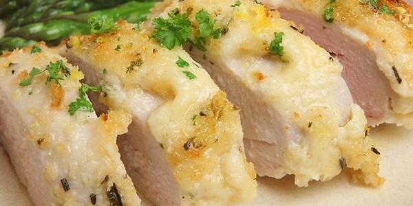 Receta de pechugas rellenas de jamón y queso