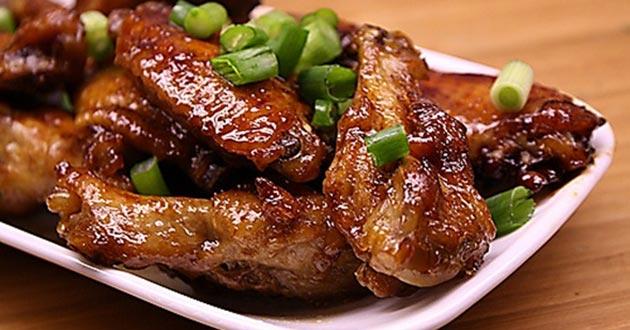 Receta de alitas de pollo al sillao