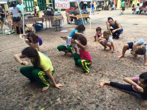 kids doing capoeira