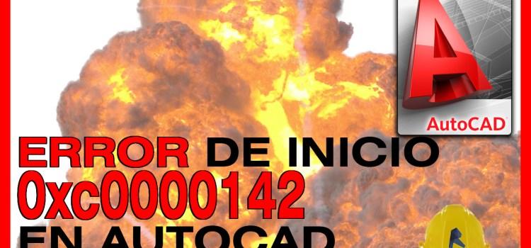 autocad error 0xc0000142