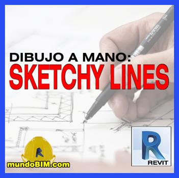 sketchy lines dibujo a mano revit