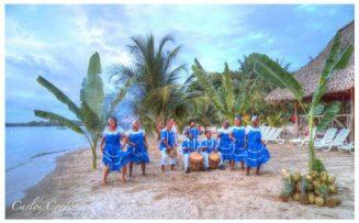 Los Embajadores de Izabal, los Garifunas en la bahia de Amatique - foto por Carlos Cordon