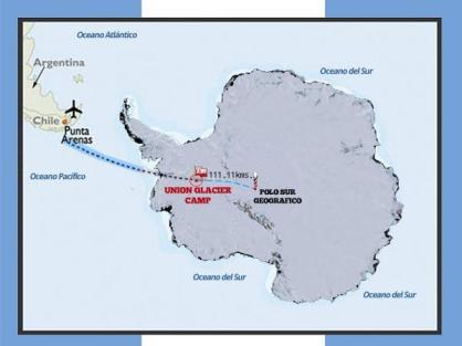 13 dic 11 Ya saliendo desde Santiago de Chile para Punta Arenas. Desde allí mi destino es Union Glacier Camp en la Antártida. Ufff qué emoción Andrea Cardona. - Andrea Cardona, alpinista