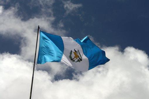 bandera 3 - Símbolos Patrios de Guatemala