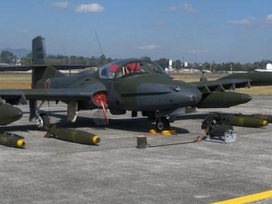 Avión de Combate de la Fuerza Aérea Guatemalteca. Fotografía de Eduardo Jagan.