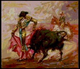 Rodolfo Abularach pintura de toros - Rodolfo Abularach, artista plástico y dibujante