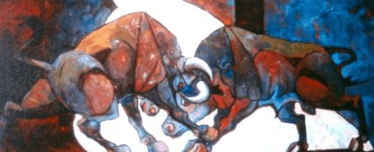 Rodolfo Abularach toros 2 - Rodolfo Abularach, artista plástico y dibujante