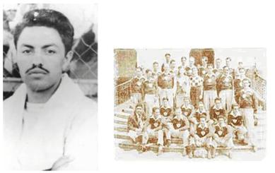 Mario camposeco, a la derecha con su equipo Xelaju.