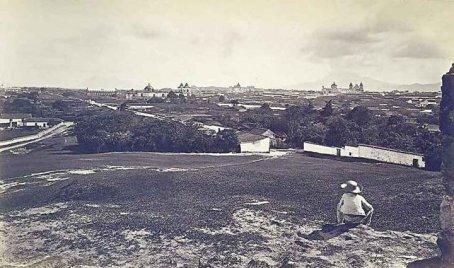 Recuerdos vista desde el Cerrito del Carmen año 1875 - La Nueva Guatemala de la Asunción (Ciudad de Guatemala)