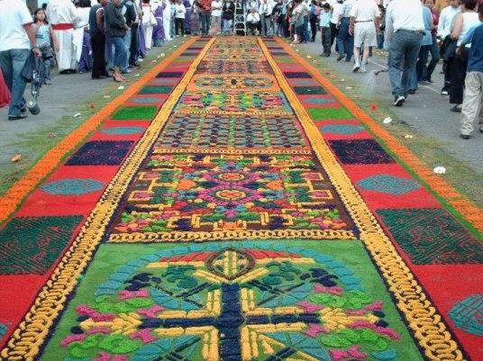 Alfombras de Semana Santa 4 foto por Sergio Molina. - Galería - Fotos de las Tradicionales Alfombras de la Cuaresma y Semana Santa