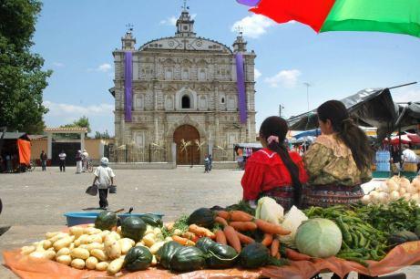 Plaza de Zacualpa Quiché foto por Jorge Méndez - El departamento de Quiché