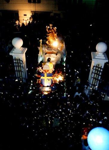 prosecion asuncion de noche - El origen de la iglesia Nuestra Señora de la Asunción