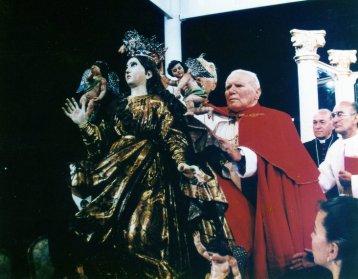 virgen y el papa - El origen de la iglesia Nuestra Señora de la Asunción